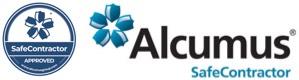 Seal alcumus safe contractor logo